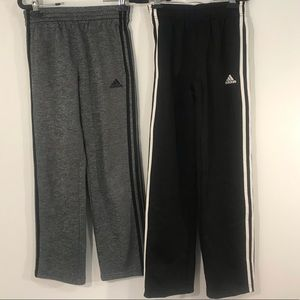Adidas Lot Of 2 Boy Jogger Sweat Pants Sz. M 10-12